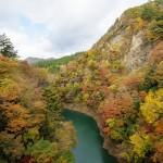 紅葉の渓谷