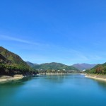 快晴の赤谷湖